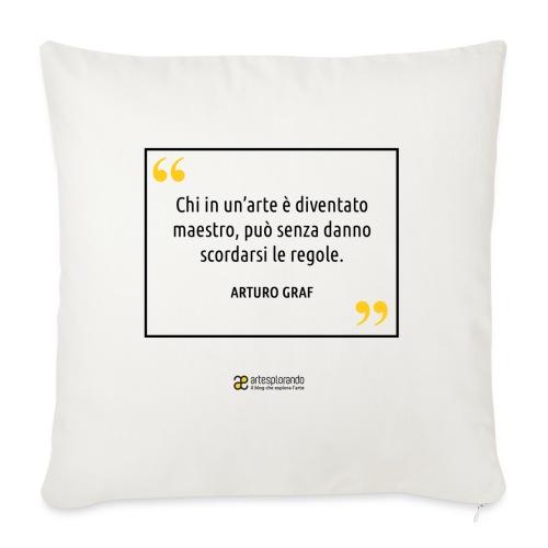 Citazione Arturo Graf - Copricuscino per divano, 45 x 45 cm
