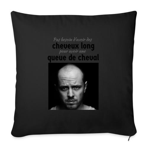 Humour Chauve ! - Housse de coussin décorative 45x 45cm