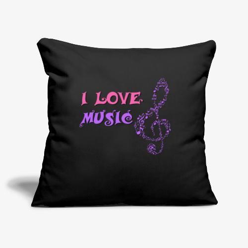 Love Music - Funda de cojín, 45 x 45 cm