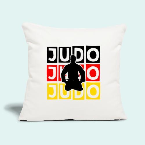 Judo Motiv Schwarz Rot Gold - Sofakissenbezug 44 x 44 cm