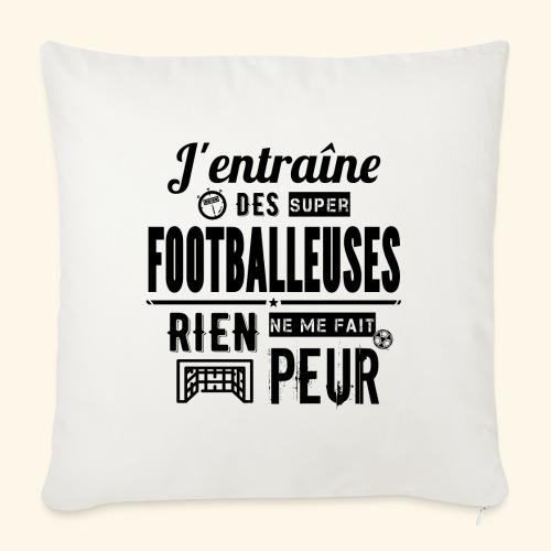 Entraîneur / coach - Footballeuse - Housse de coussin décorative 45x 45cm