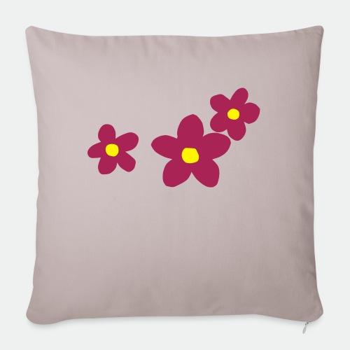 Three Flowers - Sofa pillowcase 17,3'' x 17,3'' (45 x 45 cm)