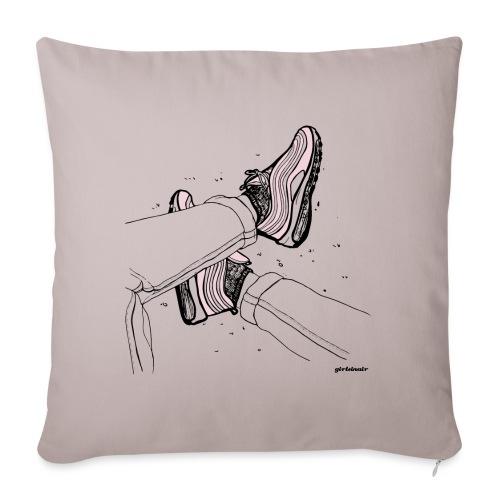 AM97 girlsinair - Sofa pillowcase 17,3'' x 17,3'' (45 x 45 cm)