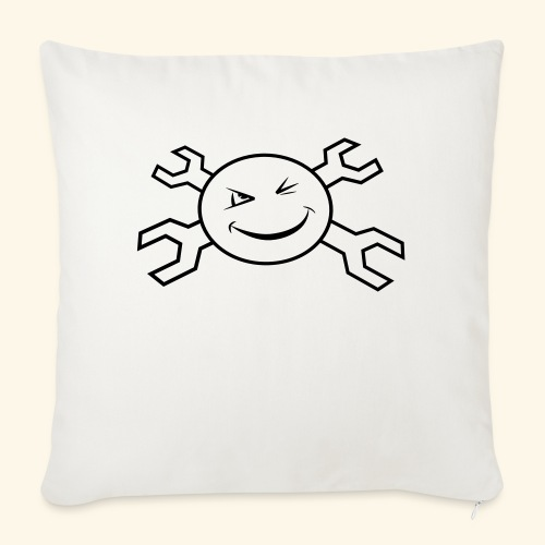 logo_atp_black - Sofa pillowcase 17,3'' x 17,3'' (45 x 45 cm)