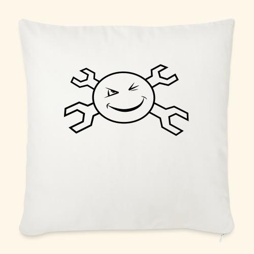 logo_atp_black - Sofa pillowcase 17,3'' x 17,3'' (45 x 45 cm)
