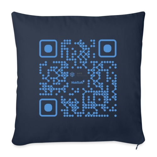 QR Maidsafe.net - Sofa pillowcase 17,3'' x 17,3'' (45 x 45 cm)