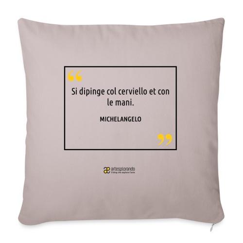 Citazione Michelangelo - Copricuscino per divano, 45 x 45 cm