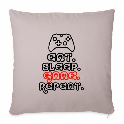 Eat. Sleep. Game. Repeat. - Sofakissenbezug 44 x 44 cm