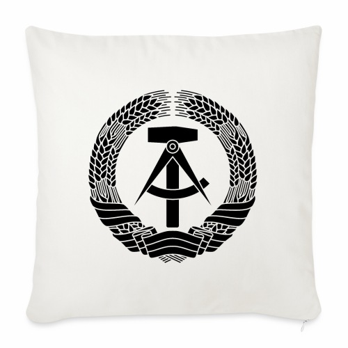 DDR coat of arms (black) - Sofa pillowcase 17,3'' x 17,3'' (45 x 45 cm)