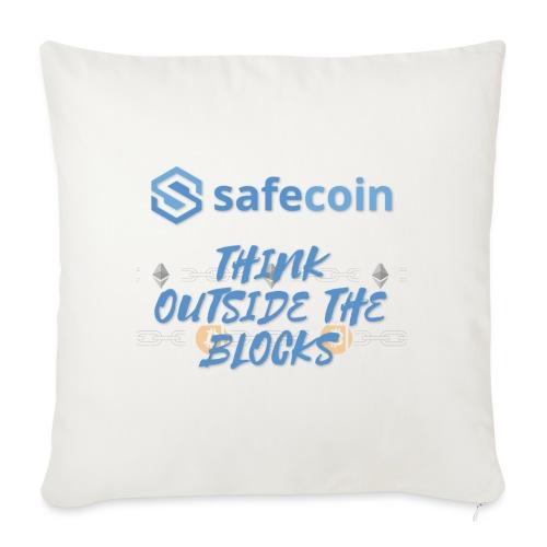 SafeCoin; think outside the blocks (blue) - Sofa pillowcase 17,3'' x 17,3'' (45 x 45 cm)