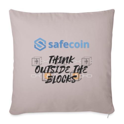 SafeCoin; Think Outside the Blocks (black + blue) - Sofa pillowcase 17,3'' x 17,3'' (45 x 45 cm)
