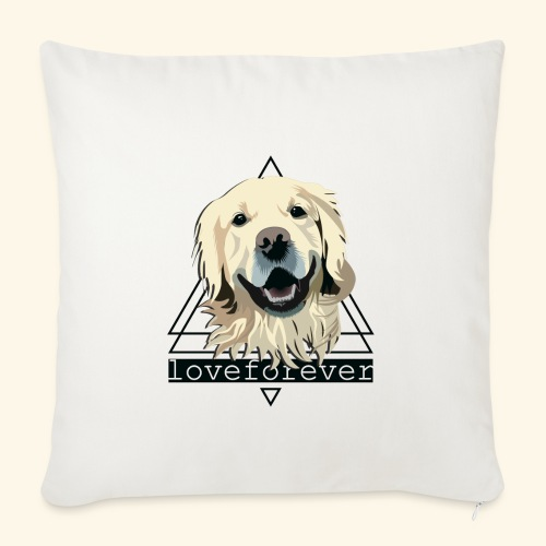 RETRIEVER LOVE FOREVER - Funda de cojín, 45 x 45 cm