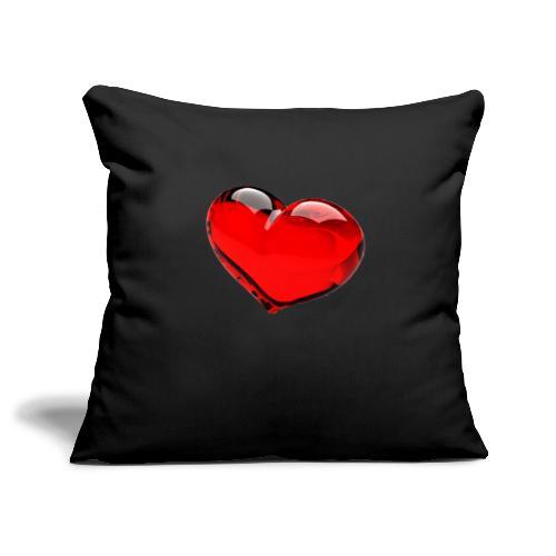 serce 3D - Poszewka na poduszkę 45 x 45 cm
