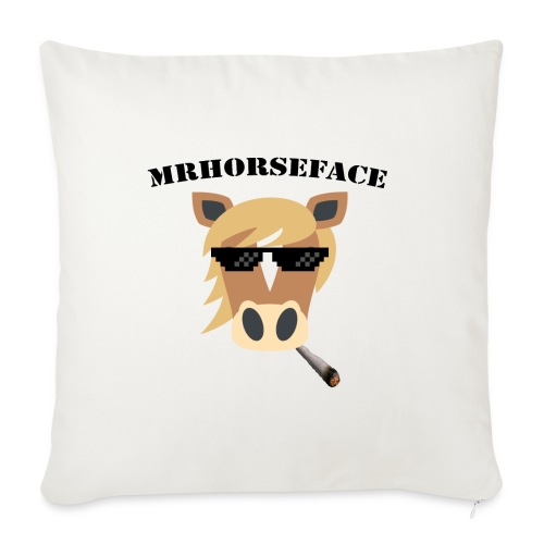MrHorseFace - Sierkussenhoes, 45 x 45 cm