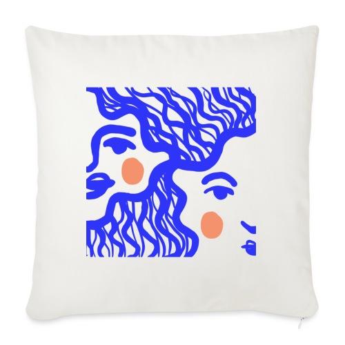 The girl in blue - Housse de coussin décorative 45x 45cm