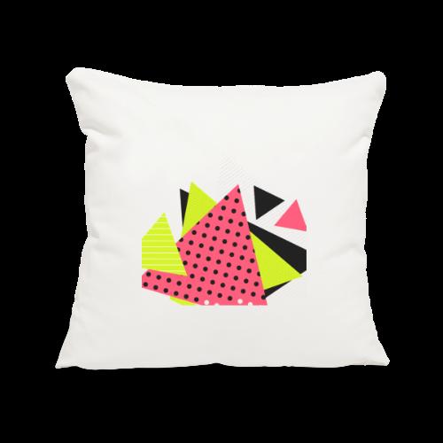 Neon geometry shapes - Sofa pillowcase 17,3'' x 17,3'' (45 x 45 cm)