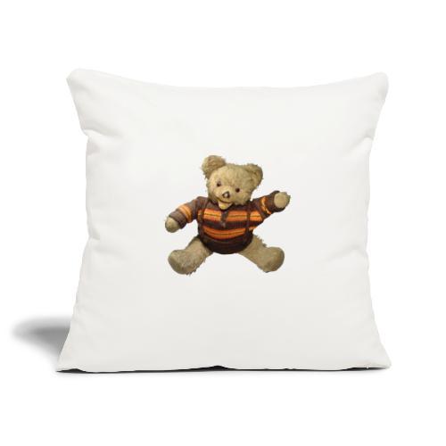 Teddybär - orange braun - Retro Vintage - Bär - Sofakissenbezug 44 x 44 cm