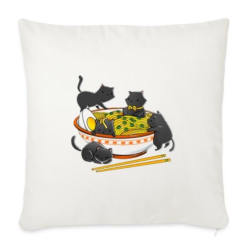 Kawaii Vintage Style Japenese Ramen Cat - Sofa pillowcase 17,3'' x 17,3'' (45 x 45 cm)