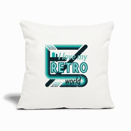 Retro world - Sofa pillowcase 17,3'' x 17,3'' (45 x 45 cm)