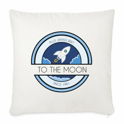 CryptoLoco - To the MOON ! - White - Housse de coussin décorative 45 x 45 cm