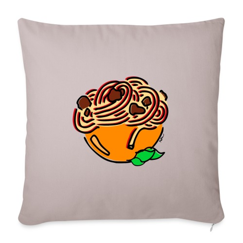 Bol de Spaghetti - Housse de coussin décorative 45x 45cm
