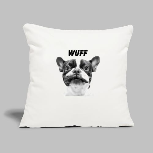 Wuff - Hundeblick - Hundemotiv Hundekopf - Sofakissenbezug 44 x 44 cm