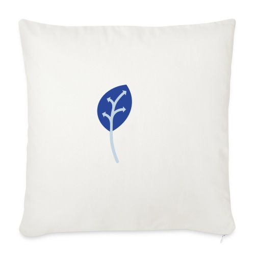 Adveris blu - Copricuscino per divano, 45 x 45 cm