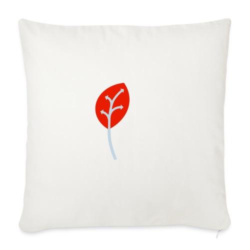 Adveris rosso - Copricuscino per divano, 45 x 45 cm