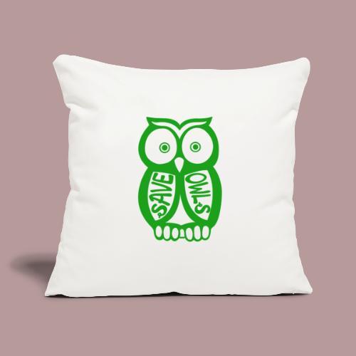 Save owls - Housse de coussin décorative 45x 45cm