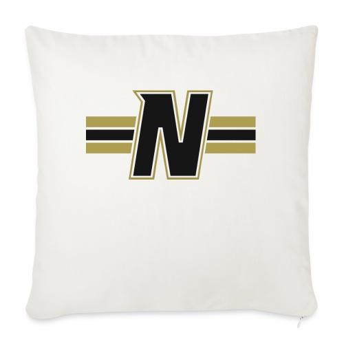 Nordic Steel Black N with stripes - Sofa pillowcase 17,3'' x 17,3'' (45 x 45 cm)