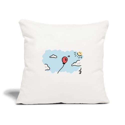 Ballon Amoureux - Housse de coussin décorative 45x 45cm