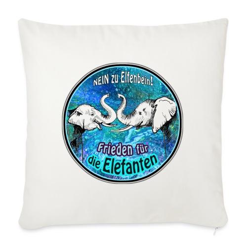 Frieden für die Elefanten - Sofakissenbezug 44 x 44 cm