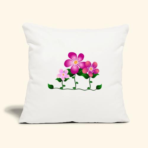 Blumen, pink, Blüten, floral, Blumenwiese, blumig - Sofakissenbezug 44 x 44 cm