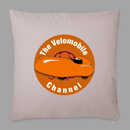 The Velomobile Channel logo - Sohvatyynyn päällinen 45 x 45 cm