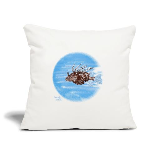 Poisson zèbre - Housse de coussin décorative 45x 45cm