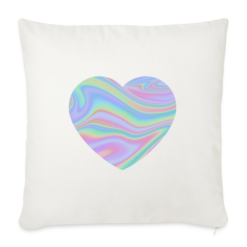 Rainbow Holographic Heart - Sierkussenhoes, 45 x 45 cm