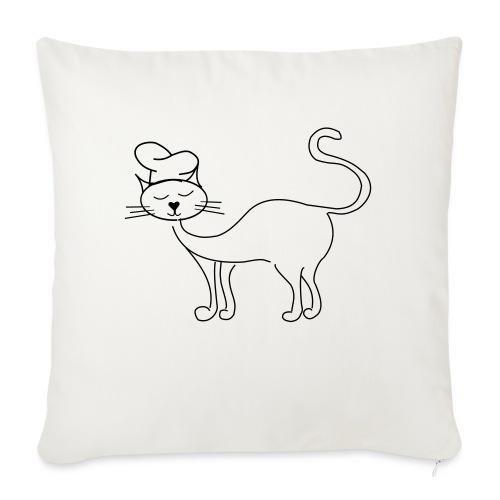 Katze mit Kochmütze - Sofakissenbezug 44 x 44 cm