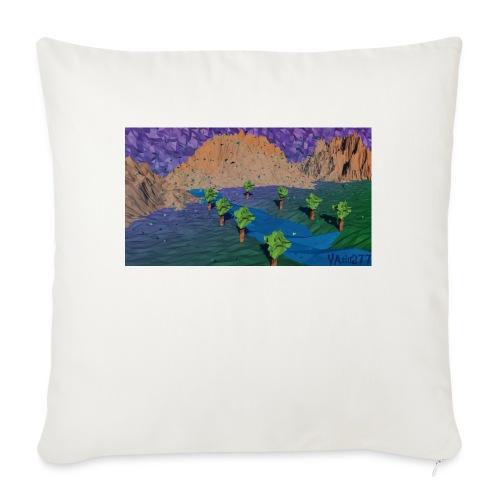 Silent river - Sofa pillowcase 17,3'' x 17,3'' (45 x 45 cm)