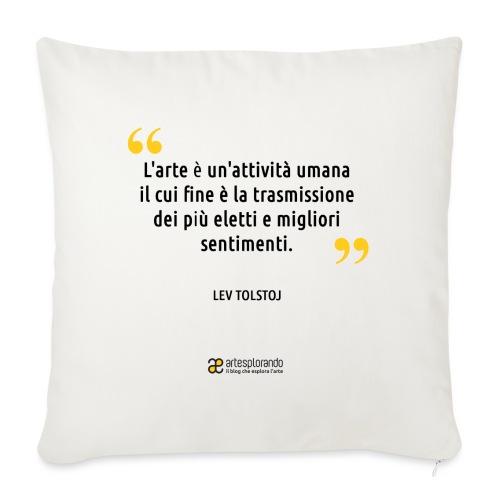 Citazione Lev Tolstoj - Copricuscino per divano, 45 x 45 cm