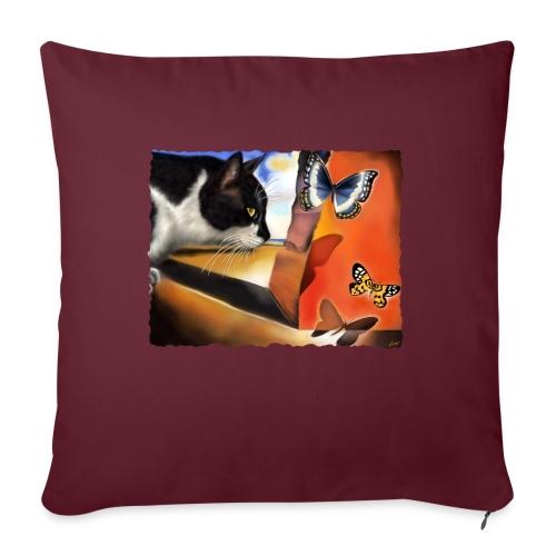 Il gatto di Dalí - Copricuscino per divano, 45 x 45 cm
