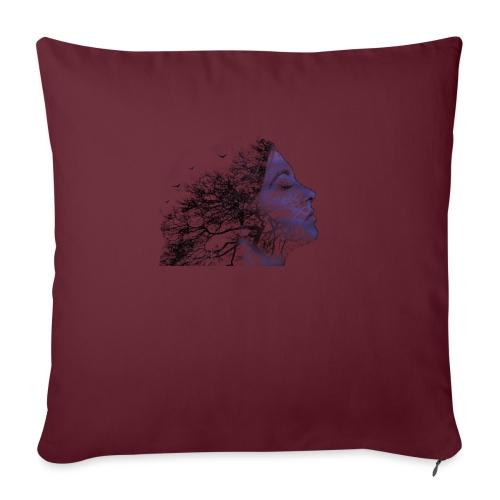 arbre de visage - Housse de coussin décorative 45x 45cm