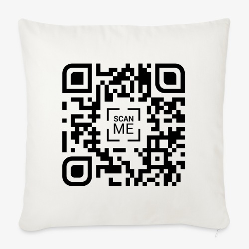 QR code (black) - Sofa pillowcase 17,3'' x 17,3'' (45 x 45 cm)