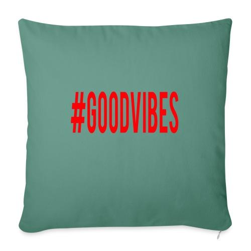 GOODVIBES_RED - Copricuscino per divano, 45 x 45 cm