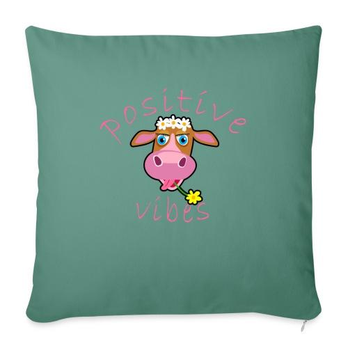 positive cow pink - Copricuscino per divano, 45 x 45 cm