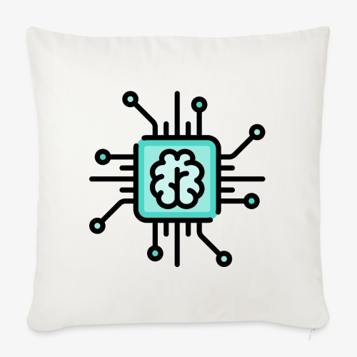 Brain chip - Sofa pillowcase 17,3'' x 17,3'' (45 x 45 cm)