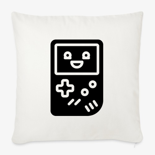Smiling game console (black, inverted) - Sofa pillowcase 17,3'' x 17,3'' (45 x 45 cm)