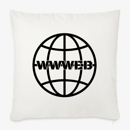 WWWeb (black) - Sofa pillowcase 17,3'' x 17,3'' (45 x 45 cm)