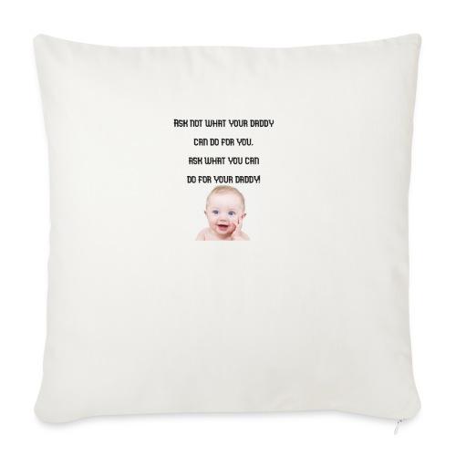 daddy tshirt sort tekst - Sofa pillowcase 17,3'' x 17,3'' (45 x 45 cm)