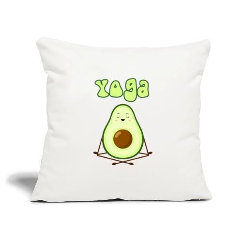 yoga avocado namaste pace amore hippie relax - Copricuscino per divano, 45 x 45 cm