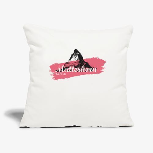 Matterhorn - Cervino - Color Coral - Sofa pillowcase 17,3'' x 17,3'' (45 x 45 cm)